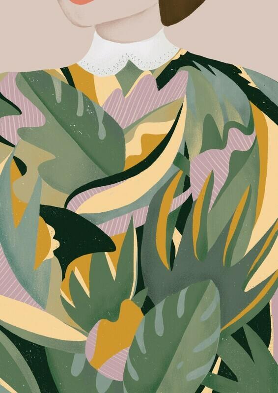 Leaf Lady Art Print