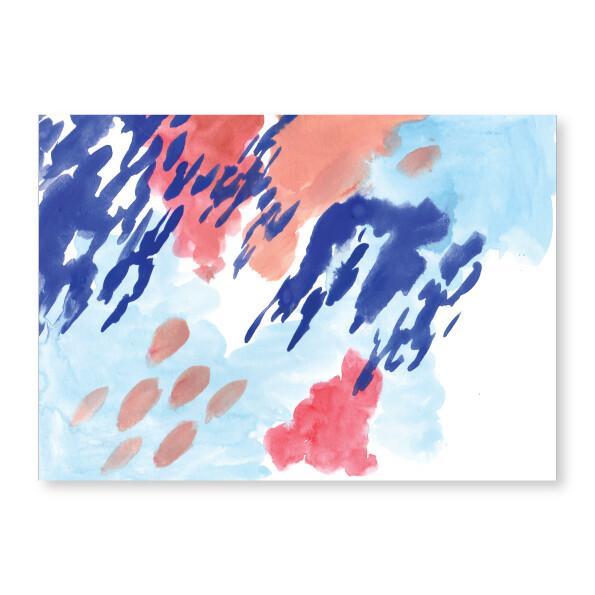 Abstract Blues Art Print