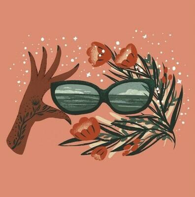 Flower Spectacles Art Print