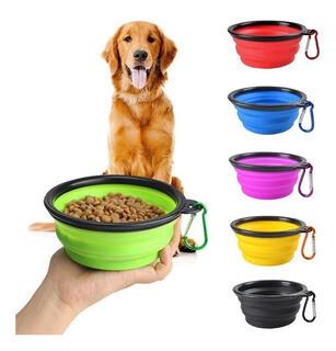 Bowl Comedero comida perro plegable silicona