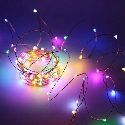 Guirnalda LED Alambre Cobre 3m. Multicolor