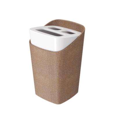 Portacepillo de Plastico Bios Madera (BPA FREE)