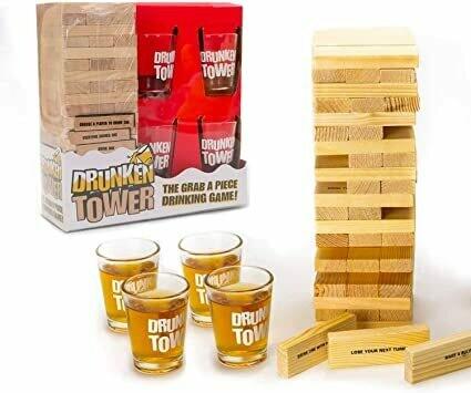 Jenga Drunken Tower 4 Shot Juego Adulto Chupito Previa