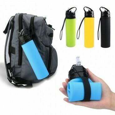 Botella plegable silicona con pico deportivo BPA free