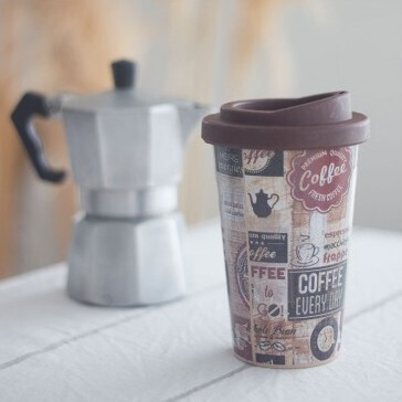Vaso Termico con Tapa Coffee