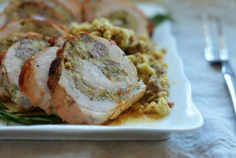 Whole Stuffed Turkey Breast (+/-1.5kg) Raw