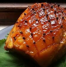 Cooked, Smoked Deboned  Sugar Glazed Gammon No skin.  2.5 Kg Delicious Sugar Glaze covered with Pineapples and Cherries. If you would like it with no Fruit please leave a note.