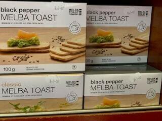 Dry goods-Melba Toast - Black pepper