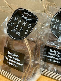 Belgian Chocolate Marshmallow Squares.120g. ' Sweet artisans hand-make irresistible candy and confectionery.'
