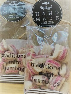 Traditional mint Humbugs. 100g ' Sweet artisans hand-make irresistible candy and confectionery.'