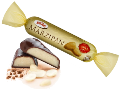 Zentis Marzipan Covered in Chocolate Bar.100g