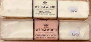 Wedgewood Handmade Nougat: 100g Macadamia or Cranberry & Almond