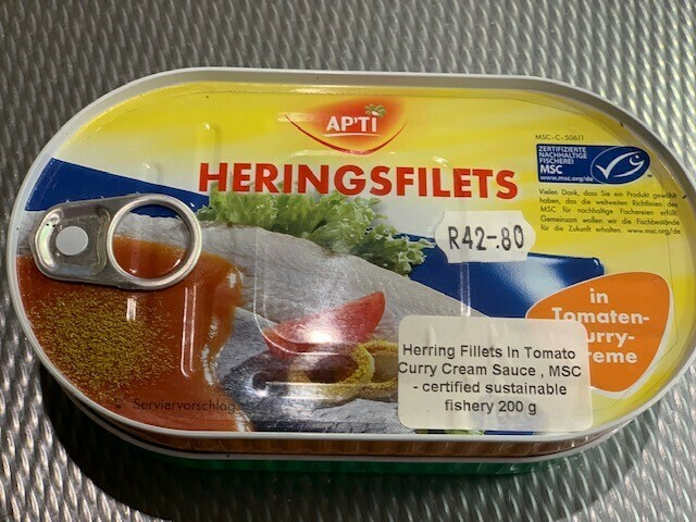 Herring Fillets in a Tomato Curry Cream Sauce 200g MSC certified