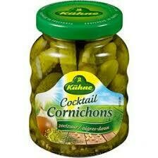 Kuhne -Cocktail Cornichons  Sweet & Sour 330g
