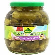 Kuhne -Garlic Barrel Pickles 970g