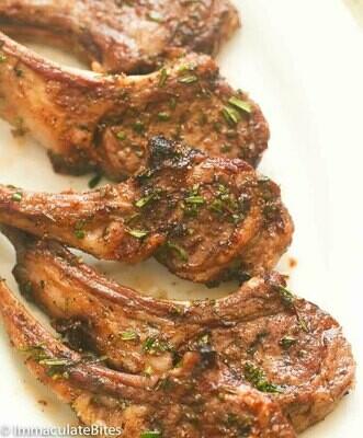 Lamb Loin Chops. (+/-660g) 6 portions at 110g