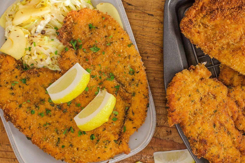 NEW RECIPE- Butterflied Crunchie Chicken Schnitzel (+/- 1.209 KG )
