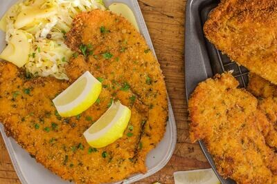 NEW RECIPE- Butterflied Crunchie Chicken Schnitzel (+/- 1.209 KG )