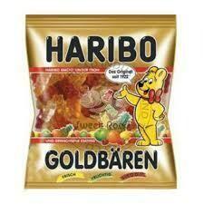 Haribo Gold Gummy Fruit Bears, for on the go Goldba'ren  100g