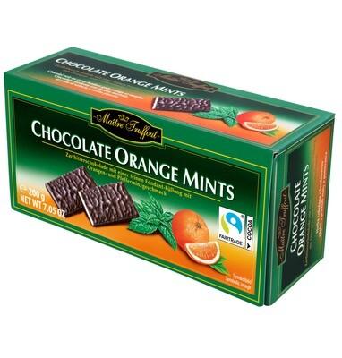 Imported -Maitre Truffout Chocolate Orange Mints - dark chocolate bars orange/mint 200g