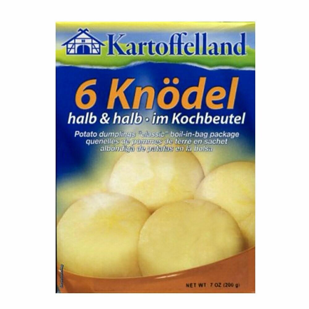 "Kartoffelland Potato Dumplings ""classic"" boil-in-bag. 6 knödel 200g"