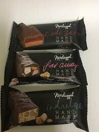 Meshuggah Far away Nougat, Fudge, marshmallow, honeycomb, cherries covered in Belgium Chocolate. ' Sweet artisans hand-make irresistible candy and confectionery.'