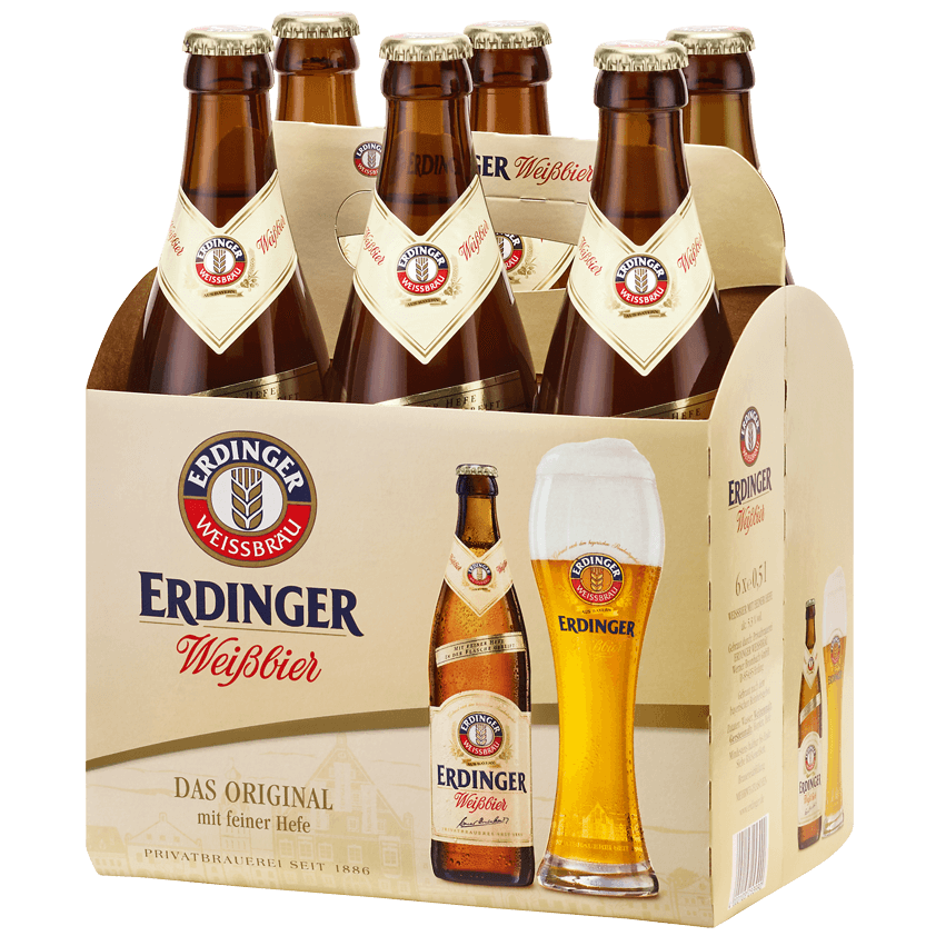 Erdinger Weißbier - 6 pack, 330ml