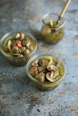 Almar Pickled Champignons (mushrooms)-100g