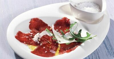 Venison Carpaccio - thinly sliced to perfection! 80g