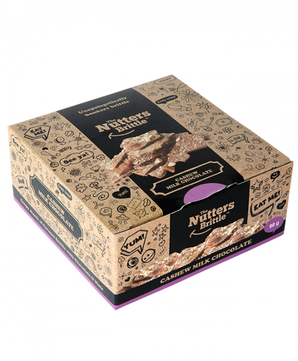 The Nutters Brittle- Cashew & Milk Chocolate. 90g
