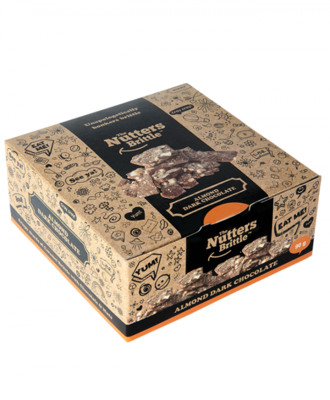 The Nutters Brittle- Almond & Dark Chocolate. 90g