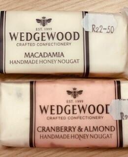 Wedgewood Handmade Nougat: 50g Cranberry