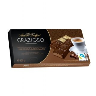 Imported Maitre Truffout- GRAZIOSO Dark Chocolate with Espresso Flavoured Filling 100g