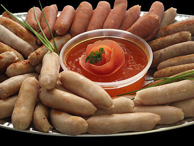 Small Assorted Sausage Platter. (Serves 8-10 persons.)