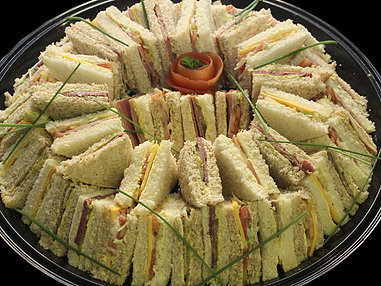 Large Assorted Sandwich Platter. (Serves 10-15 Persons)