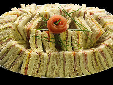 Small Assorted Sandwich Platter. (Serves 8-10 Persons.)