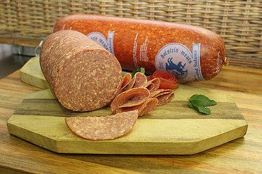 Salami - Cooked Salami (Husarenwurst). (+/-250g)