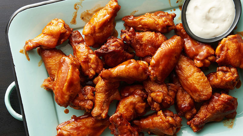 Chicken Buffalo Wings Marinated (+/-1kg) Pre Cooked