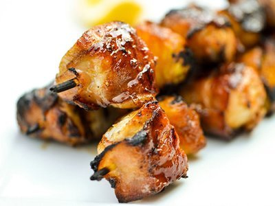 Pork Bacon Kebabs - Marinated BBQ. (+/-500g)