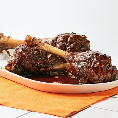 Marinated Greek Lamb Shanks.(+/-1kg)