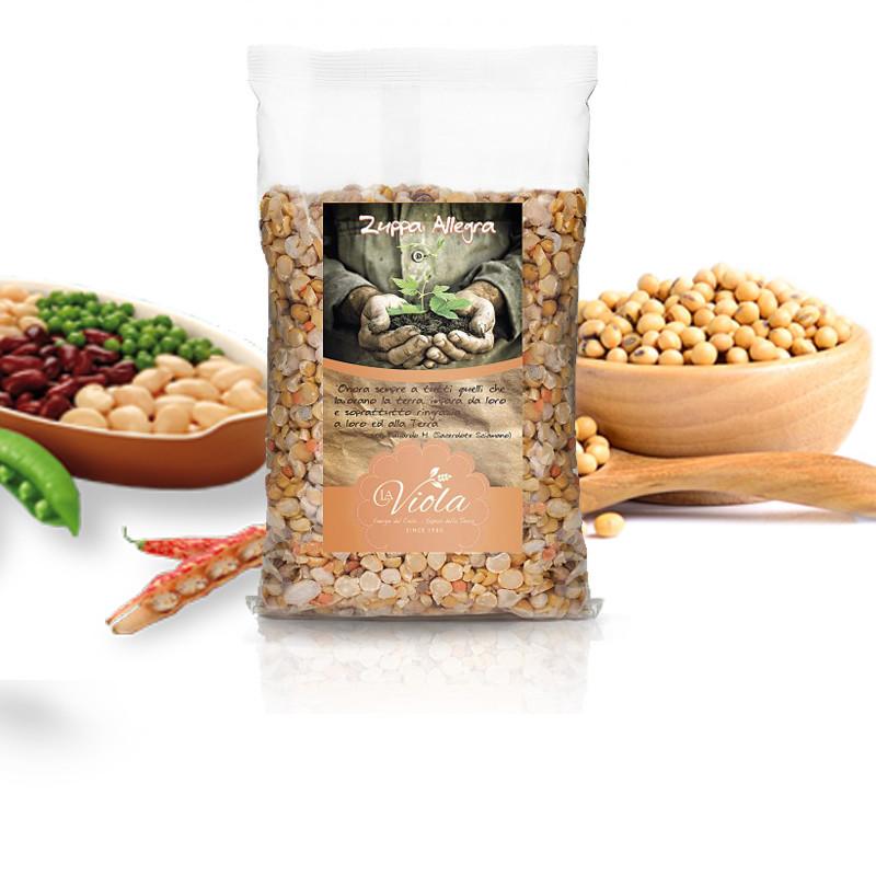 ZUPPA  ALLEGRA (zuppa di legumi decorticati) - 500gr