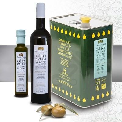OLIO EXTRA VERGINE DI OLIVA - 250/500 ml e 3lt