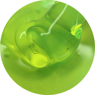 "GLASS GEL ""Neon lime"""