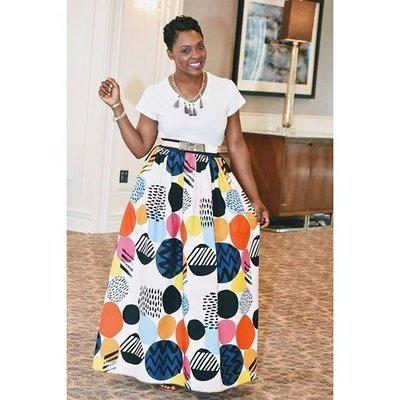 Circles Galore Maxi Skirt