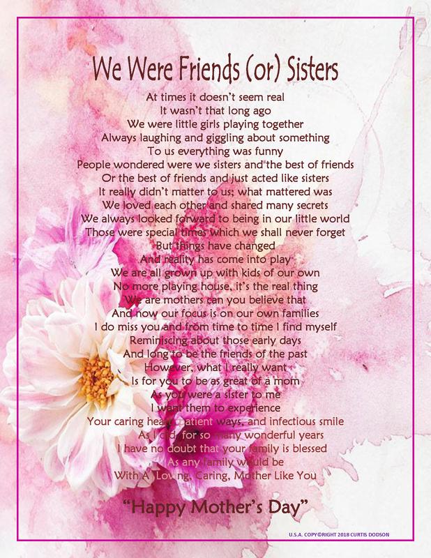 We Were Friends (or) Sisters