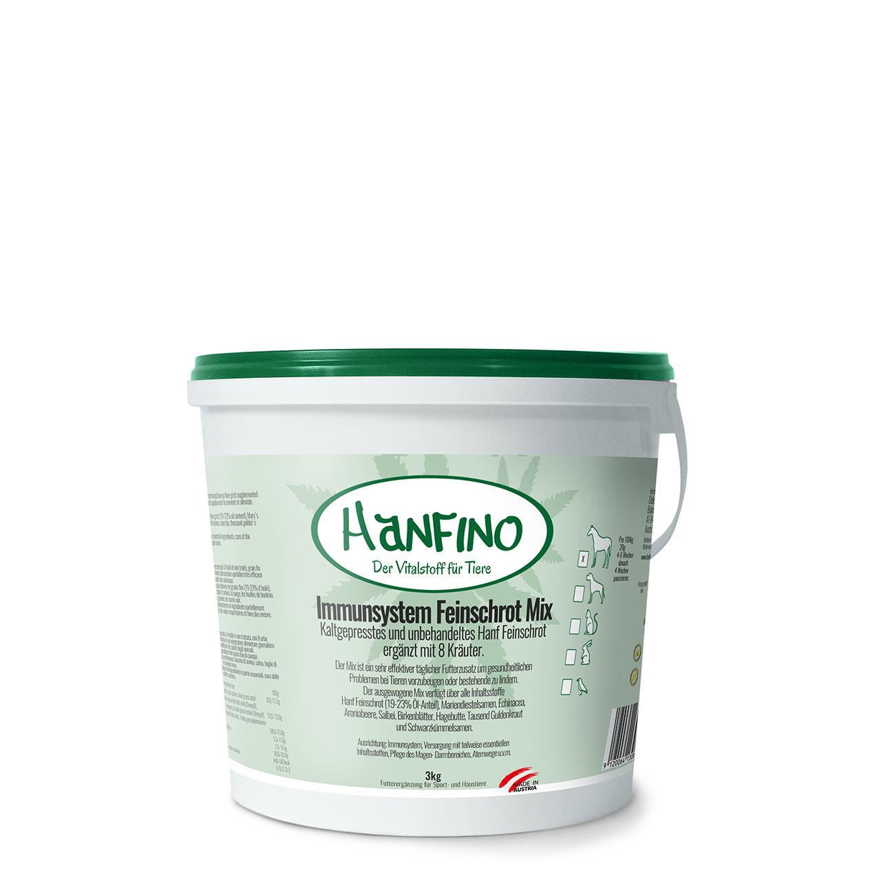 Hanfino Immunsystem Hanfsamenpresskuchen plus Kräuter
