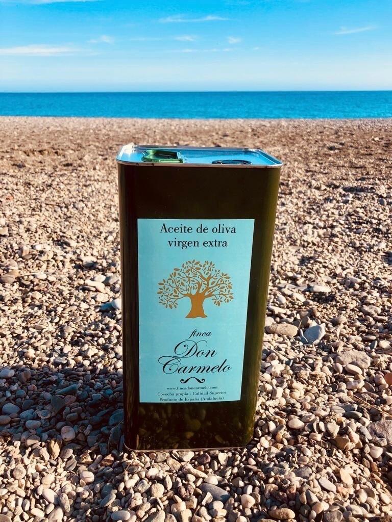 Nieuwe oogst- New Harvest 2020!  Bio Extra Virgin Olijfolie/Organic Olive Oil unfiltered - Blik/Tin - 3 lit