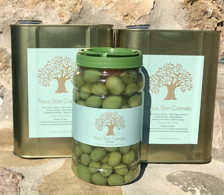 2 blikken/tins Nieuwe oogst/New Harvest! + Chupadeos Eetolijven/Table Olives   Gratis verzending! Free shipping