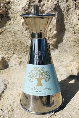 Elegante schenkkan voor olijfolie / Elegant Olive Oil Can in inox 1/2 lit.