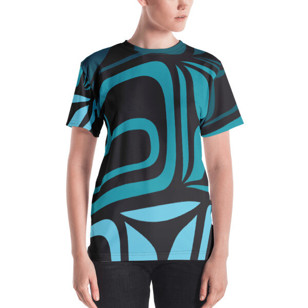 Women's T-shirt w/ Shades of Turquoise Design